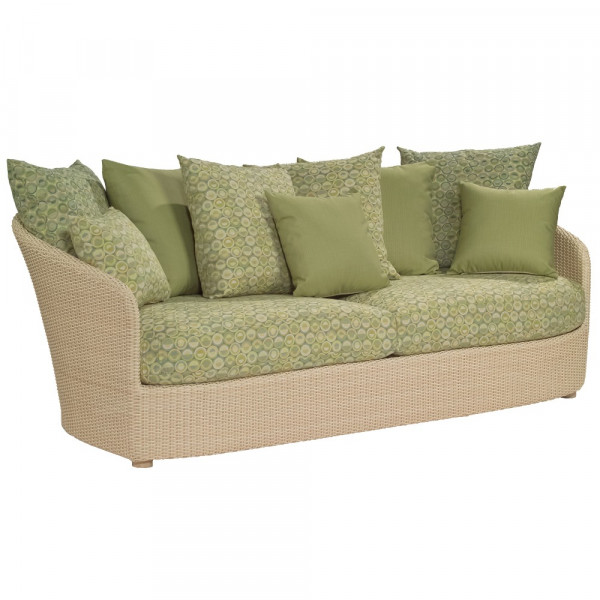WhiteCraft by Woodard Oasis Wicker Sofa  - Replacement Cushion