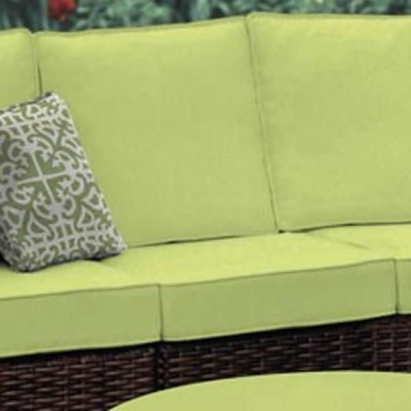South Sea Rattan Saint Tropez Armless Wicker Lounge Chair