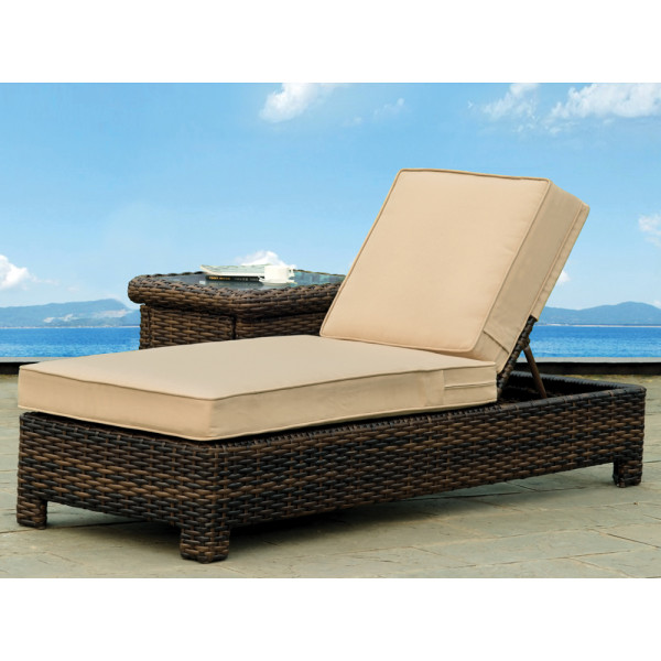 South Sea Rattan Saint Tropez Wicker Chaise Lounge