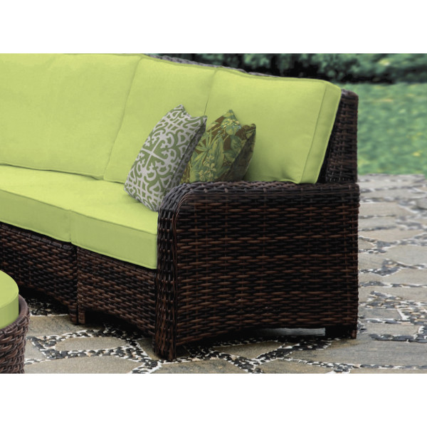 South Sea Rattan Saint Tropez Right Arm Facing Wicker Lounge Chair