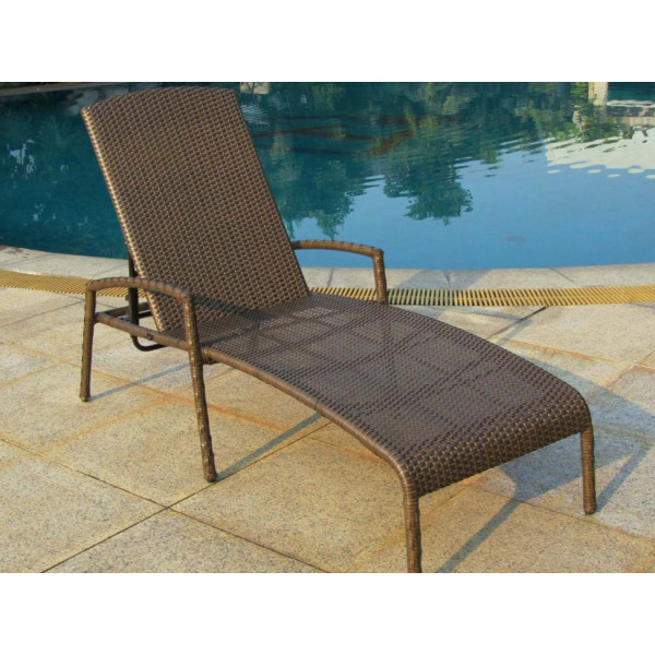 Longboat Key Summit Adjustable Wicker Chaise Lounge