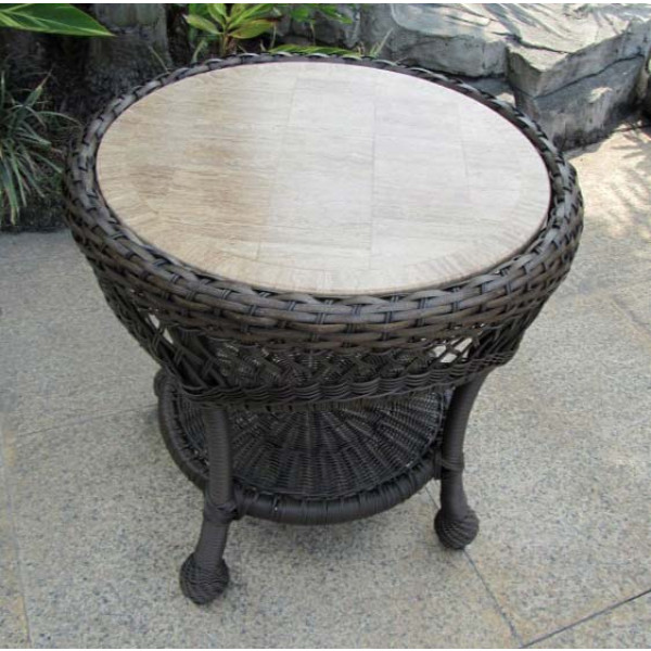 Longboat Key Incline Wicker End Table