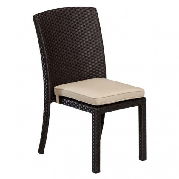 Sunset West Solana Armless Wicker Dining Chair - Replacement Cushions