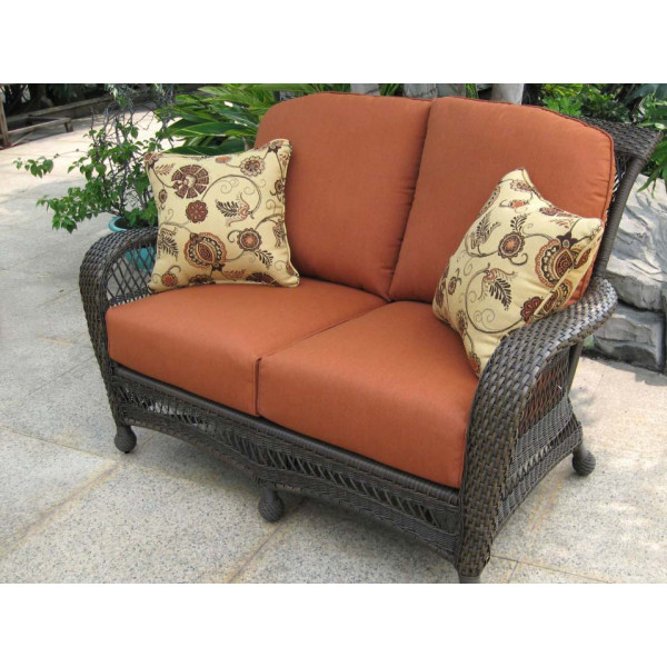 Longboat Key Incline Wicker Loveseat