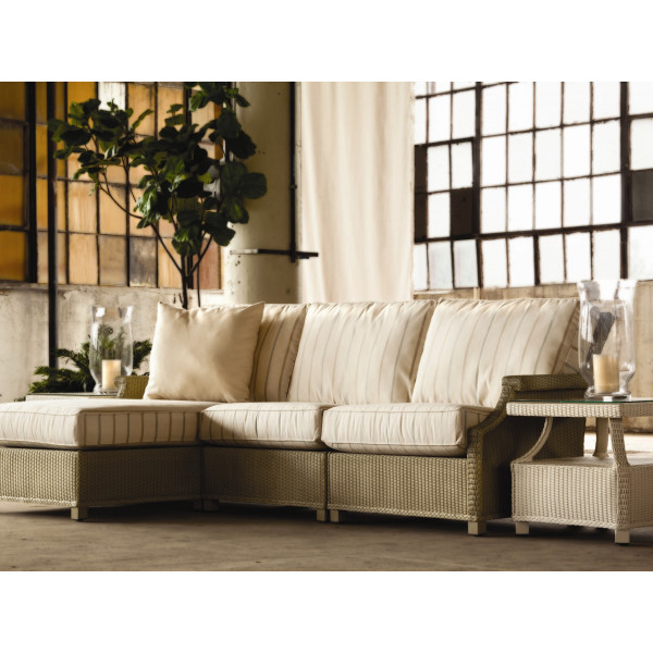 Lloyd Flanders Hamptons 5 Piece Wicker Sectional Set
