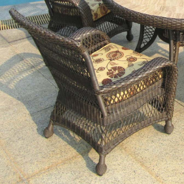 Longboat Key Incline Wicker Dining Chair