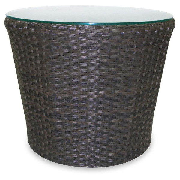 Source Outdoor Wave Wicker End Table