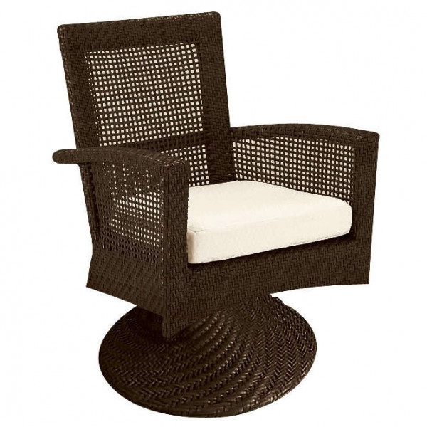 WhiteCraft by Woodard Trinidad Wicker Swivel Dining Chair