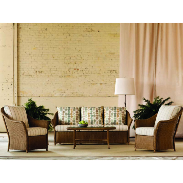 Lloyd Flanders Weekend Retreat 4 Piece Wicker Conversation Set