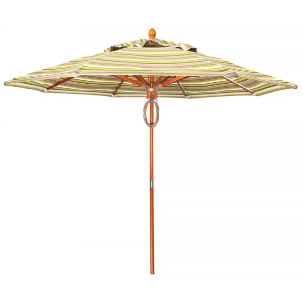 Woodard 9' Teak Market Umbrella