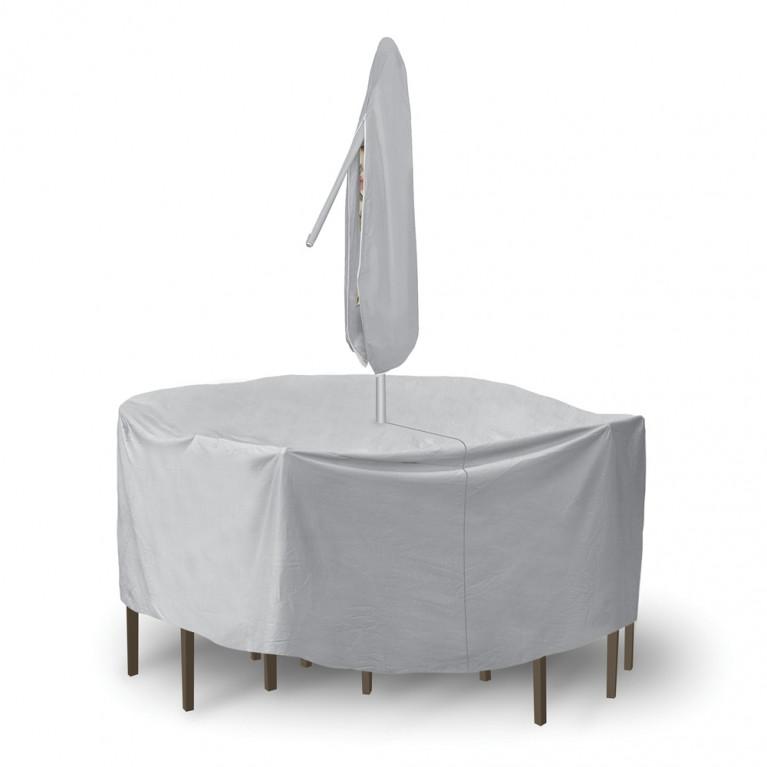 Pci Round Pub Set Outdoor Furniture, Round Patio Furniture Covers With Umbrella Hole