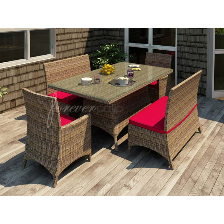 Forever Patio Cypress 72 X 42 Rectangular Wicker Dining Table