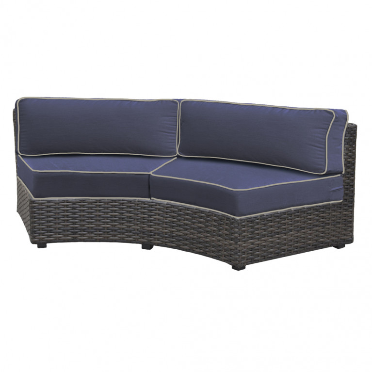 forever patio horizon curved wicker sofa replacement cushion