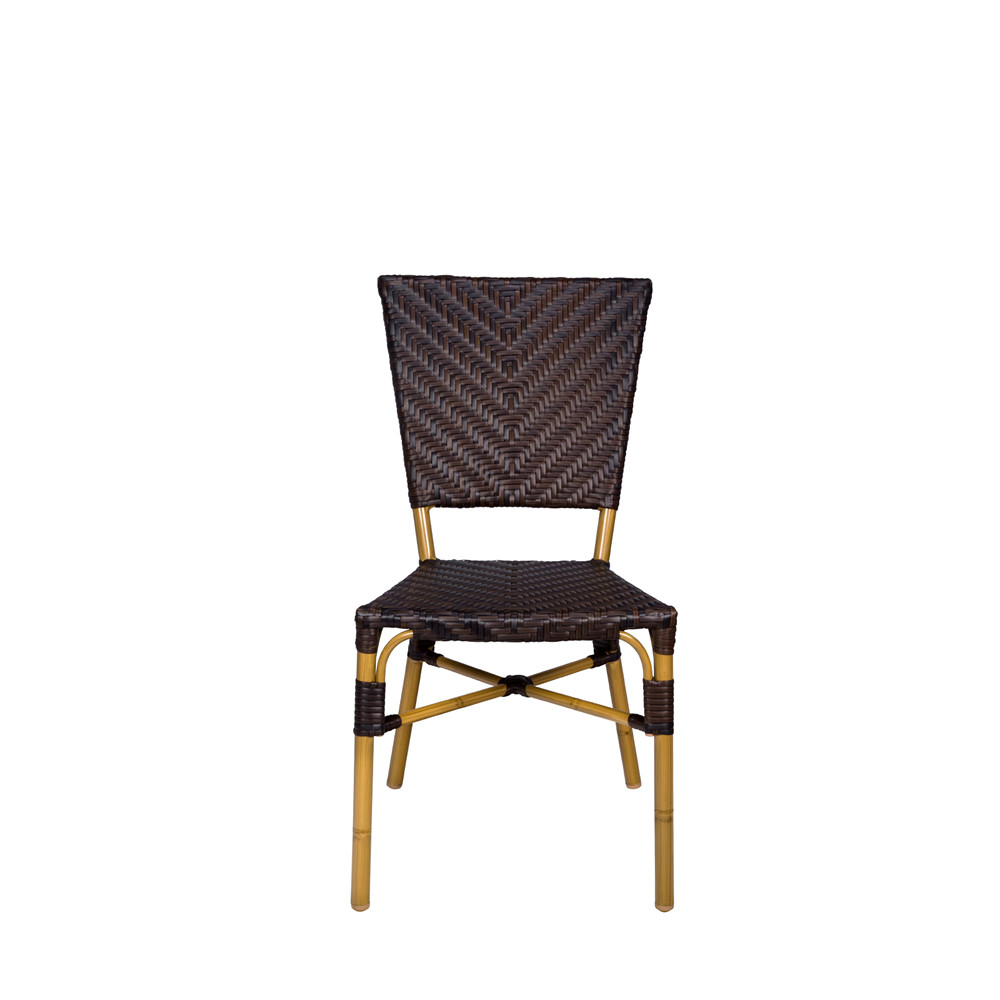 Source Outdoor Capri Armless Wicker Dining Chair Wicker