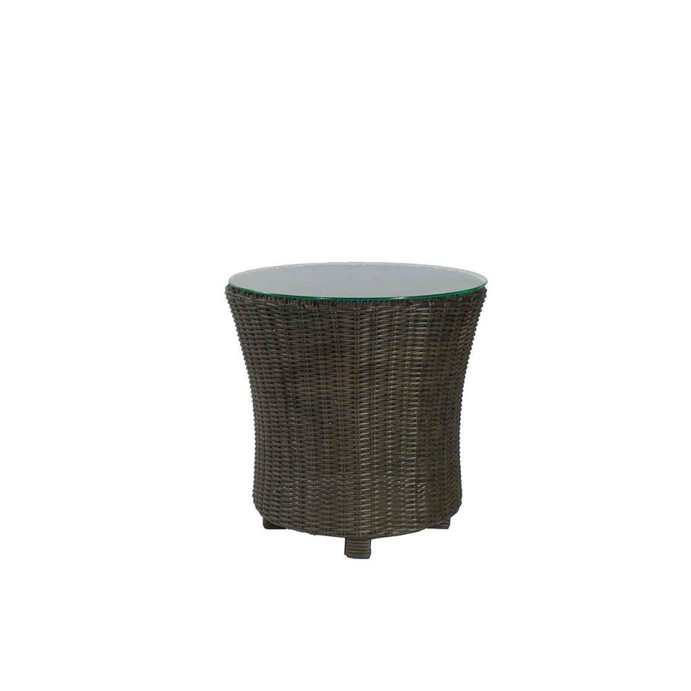 Source outdoor wellington wicker end table wicker end for Outdoor furniture wellington