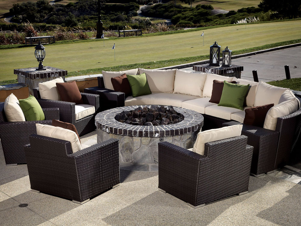 Delicieux Sunset West Solana 10 Piece Curved Wicker Sectional Set