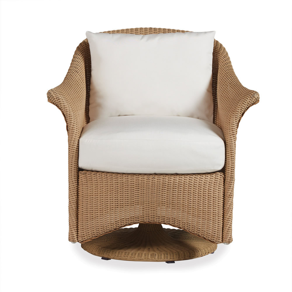 Lloyd Flanders Generations Wicker Swivel Dining Chair
