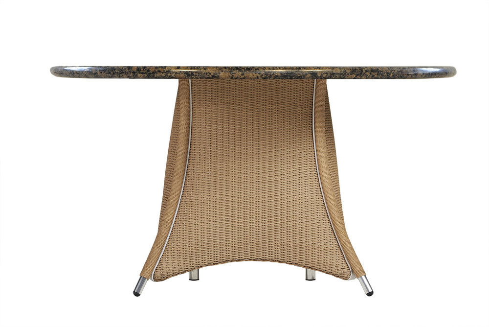 Lloyd Flanders Generations 48 Round Wicker Dining Table With Stone
