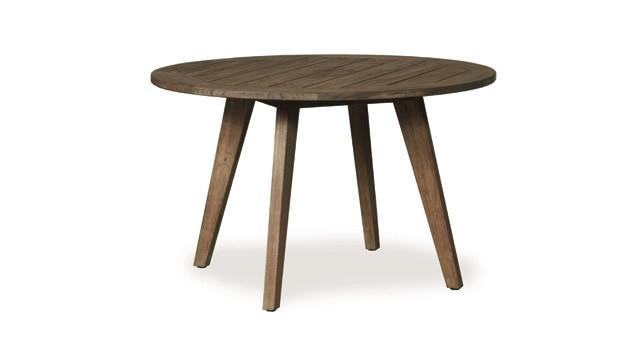 Lloyd flanders wildwood 48 round teak dining table for Table 6 wildwood mo