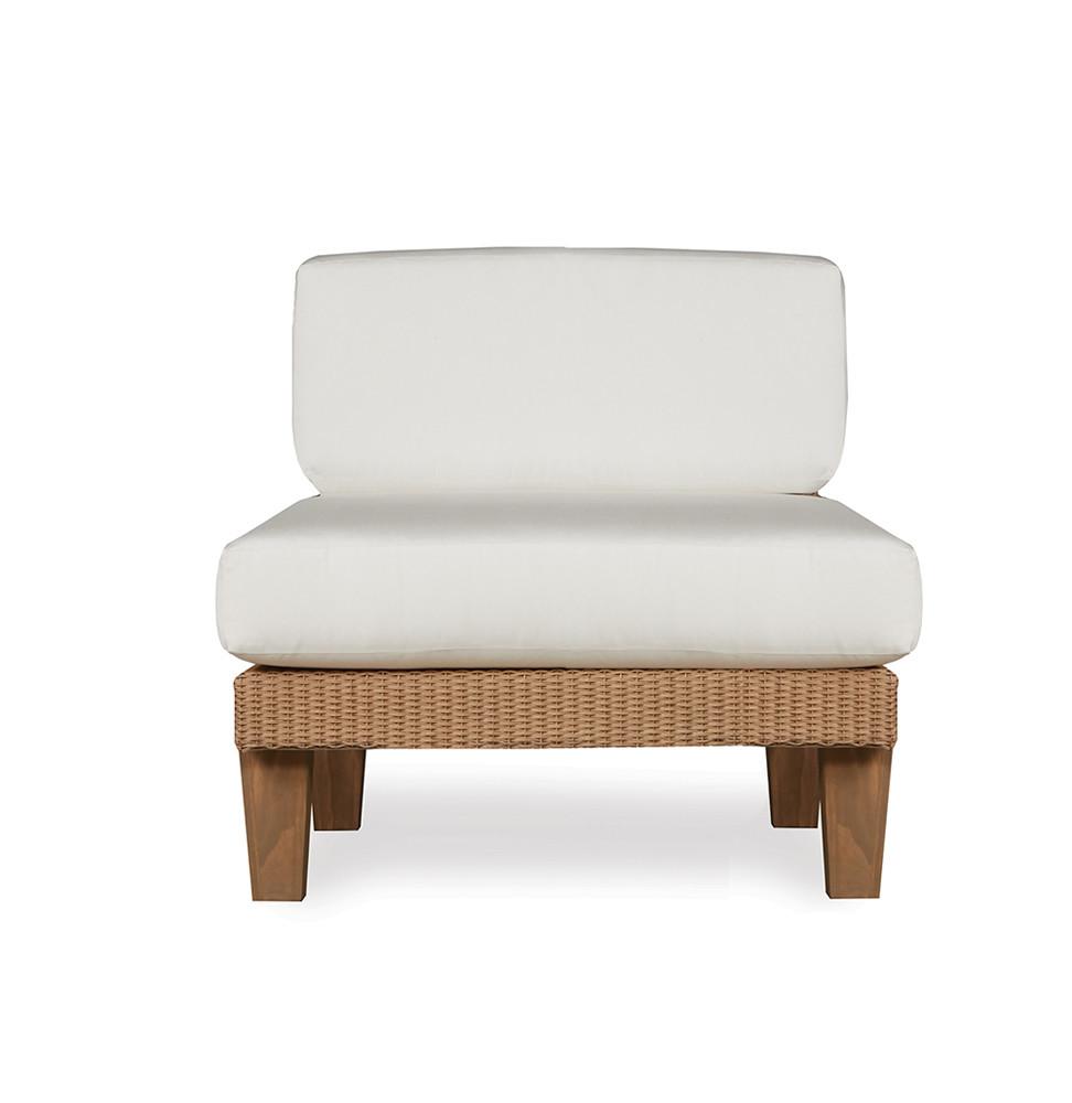 Lloyd Flanders Catalina Armless Wicker Lounge Chair