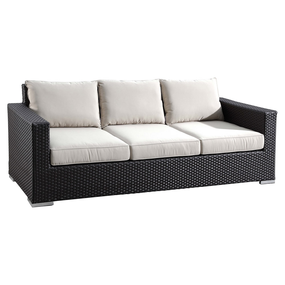 sunset west solana wicker sofa. Black Bedroom Furniture Sets. Home Design Ideas
