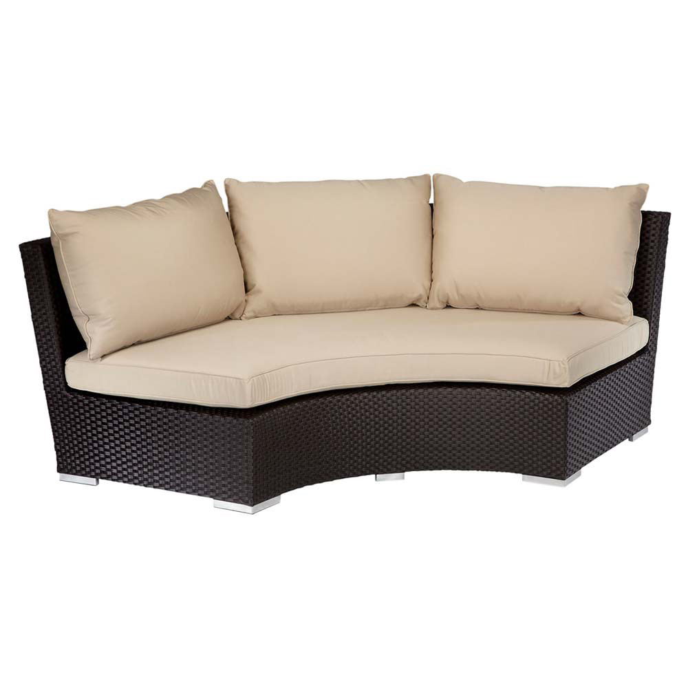 Lounge sofa rund  Sunset West Solana 1/4 Round Sofa - Wicker.com