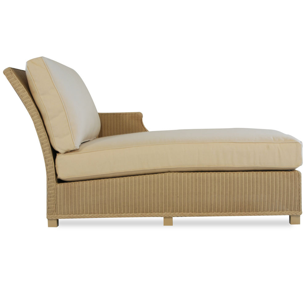 Lloyd flanders hamptons wicker left arm chaise for Arm chaise lounge