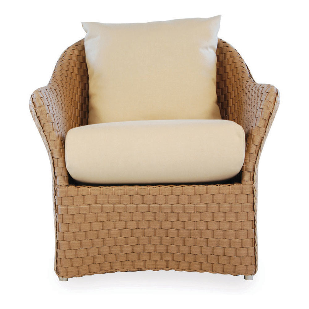 Modern Chair Pillows : Lloyd Flanders Canyon Lounge Chair with Contemporary Pillow - Replacement Cushion - Wicker.com