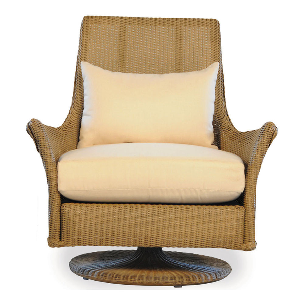 lloyd flanders fusion highback wicker swivel rocker with square back replacement cushion