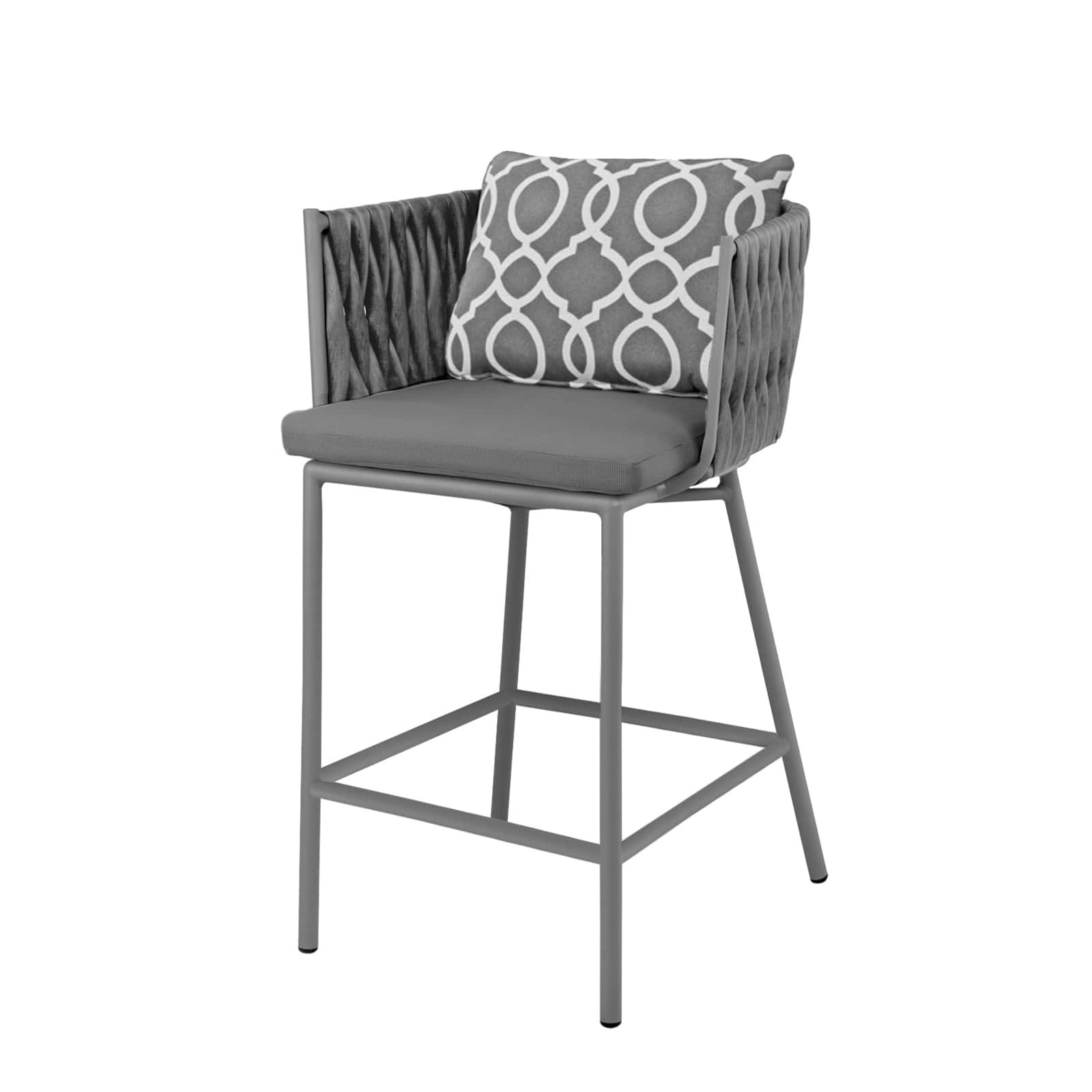 Exceptionnel Source Outdoor Aria Wicker Bar Chair. Kessler Silver With Gray Weave