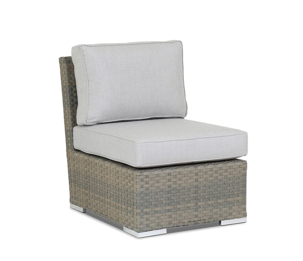 Sunset West Majorca Armless Wicker Lounge Chair - Replacement Cushion