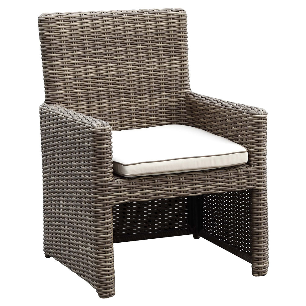sunset west coronado wicker dining chair driftwood finish