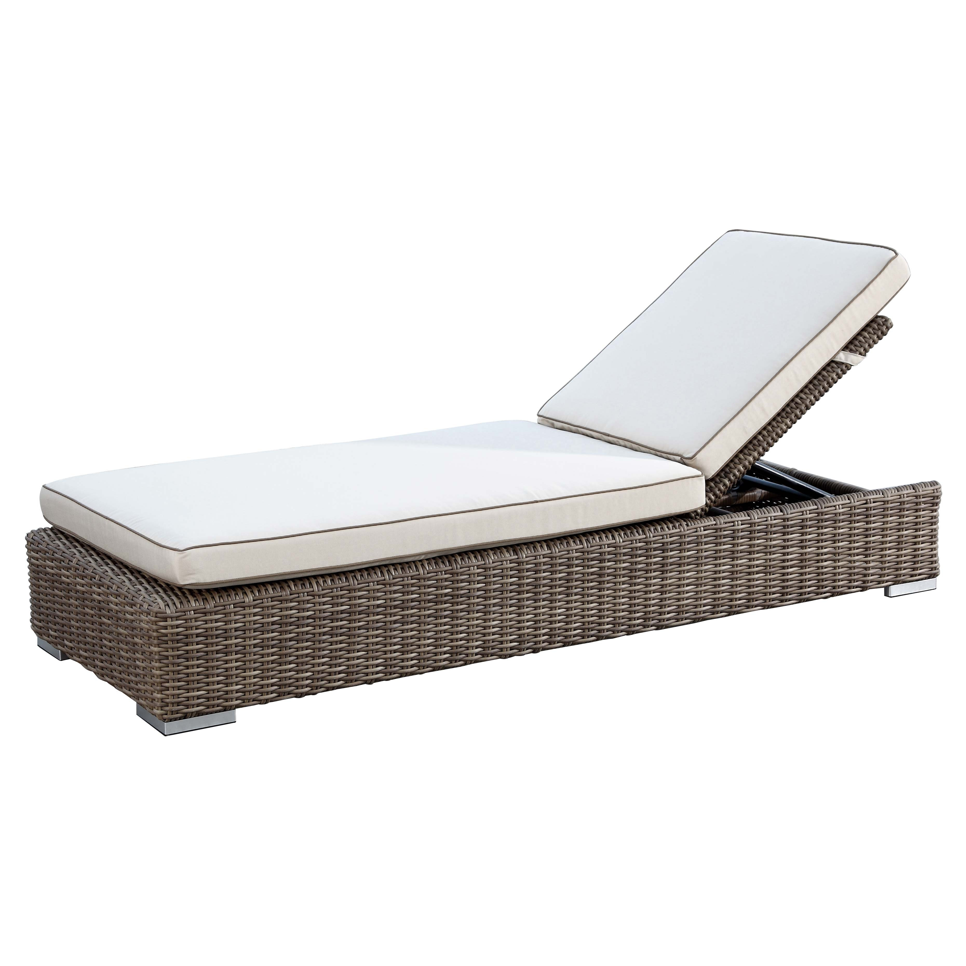 of garden wood today set product chaise ariana overstock with acacia home outdoor cushion shipping mattress free lounge