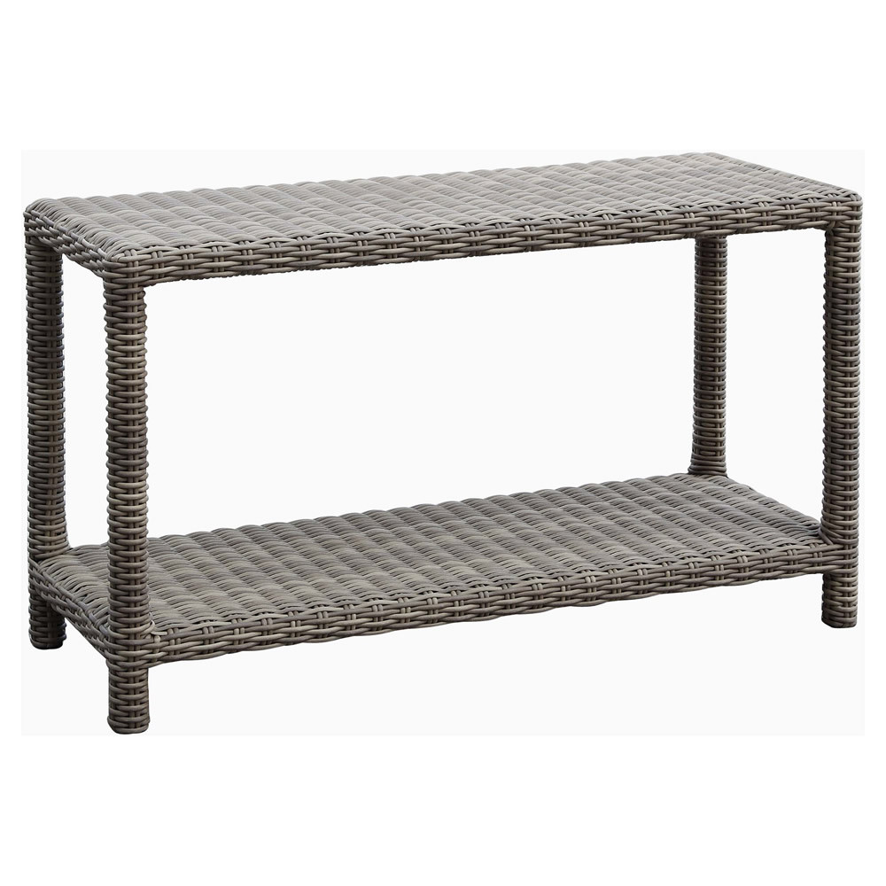 Sunset west coronado wicker console table wicker sunset west coronado wicker console table driftwood finish geotapseo Images