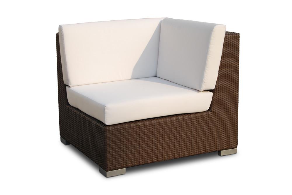 Hospitality Rattan Sydney Corner Wicker Lounge Chair