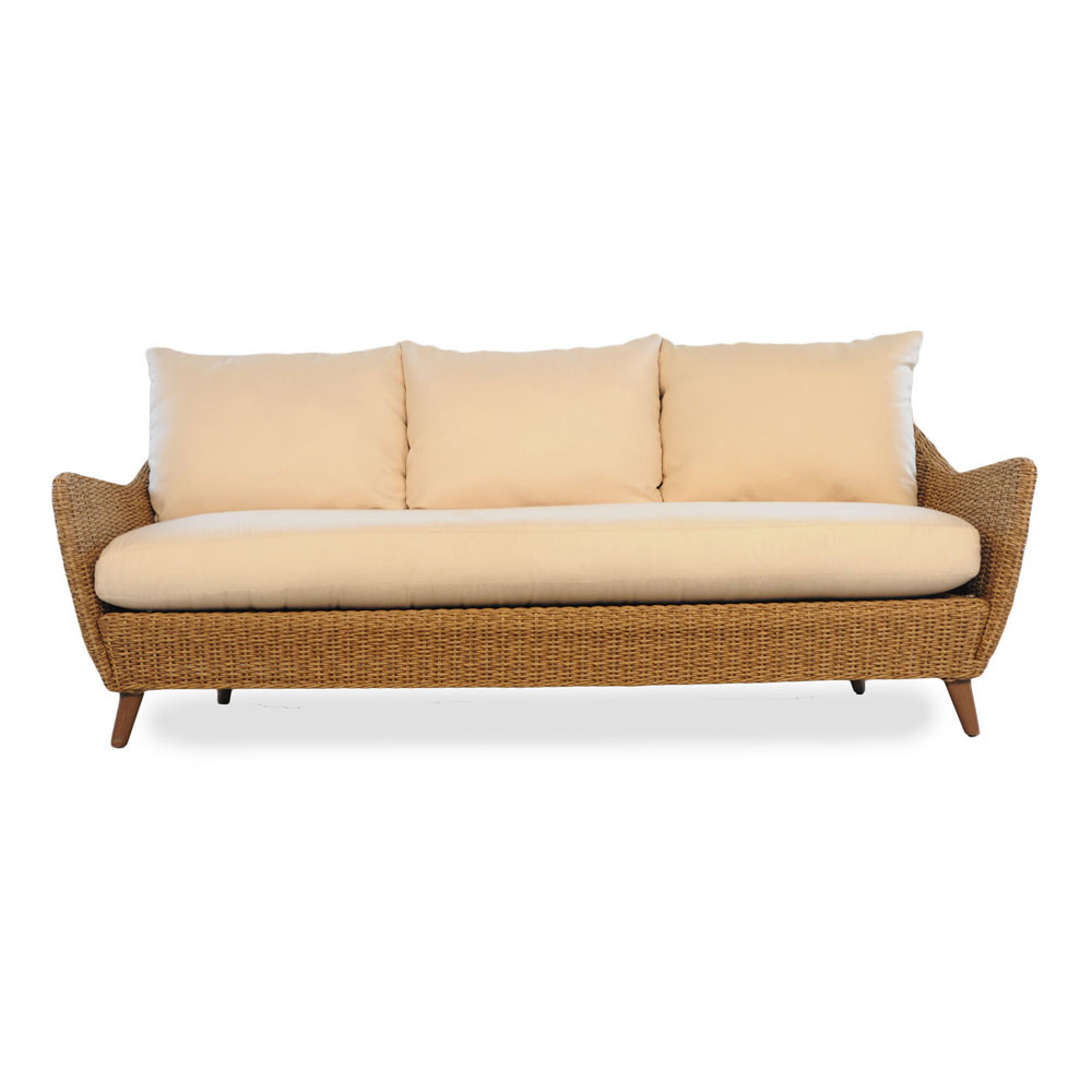 Lloyd Flanders Tobago Wicker Sofa With Cushions Wicker Central