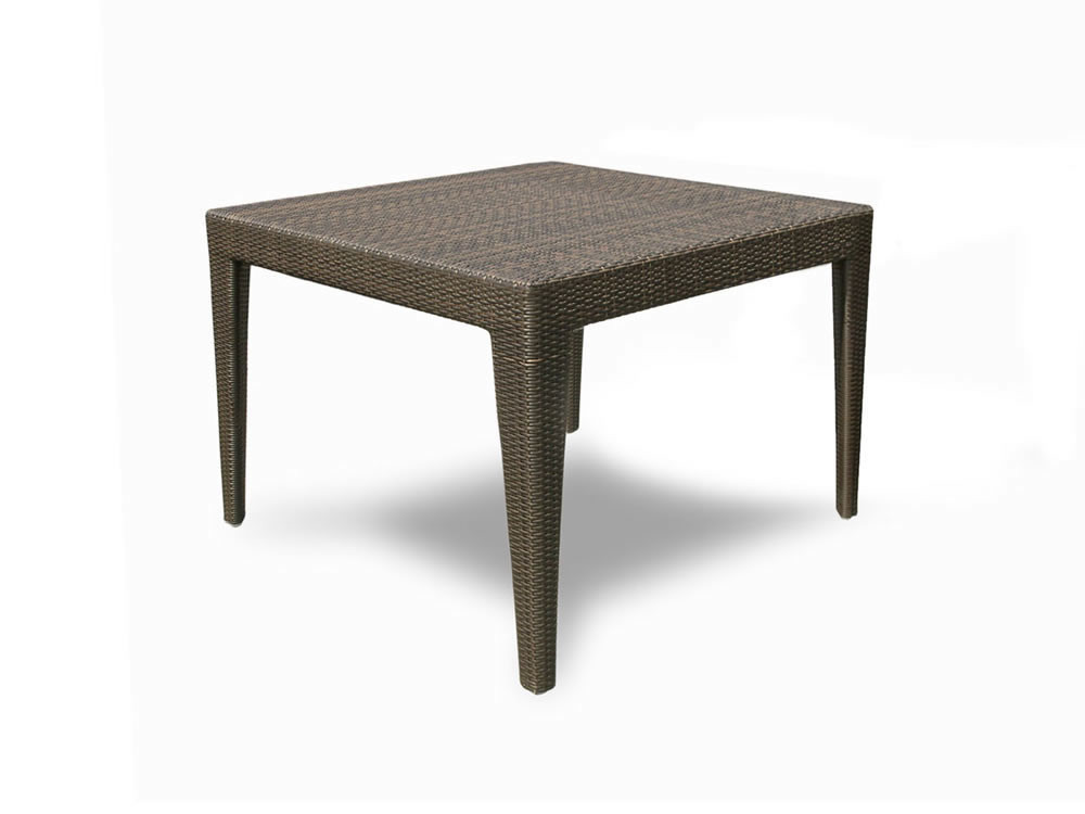 Hospitality Rattan Wave Square Wicker Dining Table