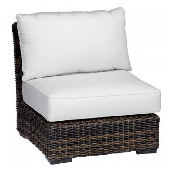 Sunset West Montecito Wicker Armless Club Chair