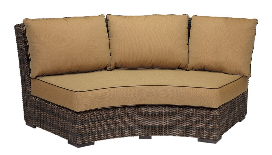 Sunset West Montecito Curved Wicker Sofa Replacement Cushion