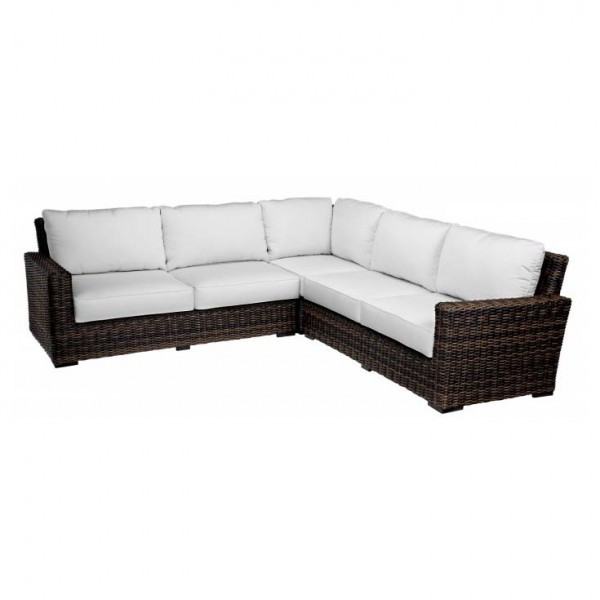 Sunset West Montecito 3 Piece Wicker Sectional Sofa   Replacement Cushion