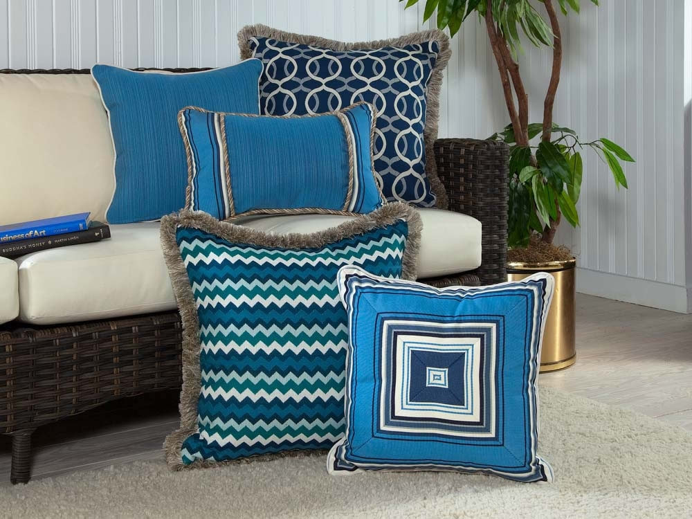 South Sea Rattan All Weather Bondi 5 Piece Throw Pillow Set - South Sea Rattan Throw Pillows ...