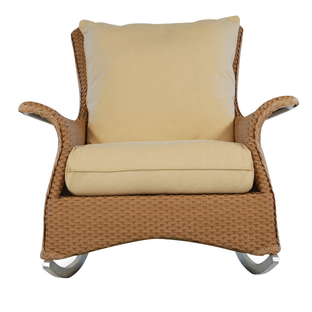 Lloyd Flanders Mandalay Wicker Lounge Rocker on rattan rocking chair replacement cushions