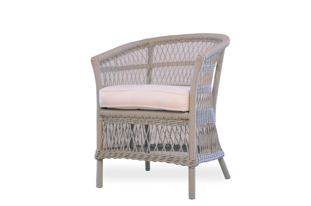 Lloyd Flanders Fairhope Barrel Wicker Dining Chair   Replacement Cushion