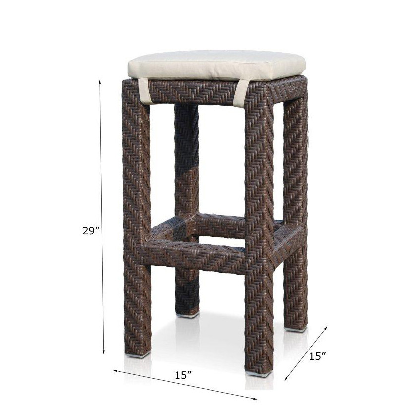 Hospitality Rattan Cava Wicker Bar Stool Wicker Bar