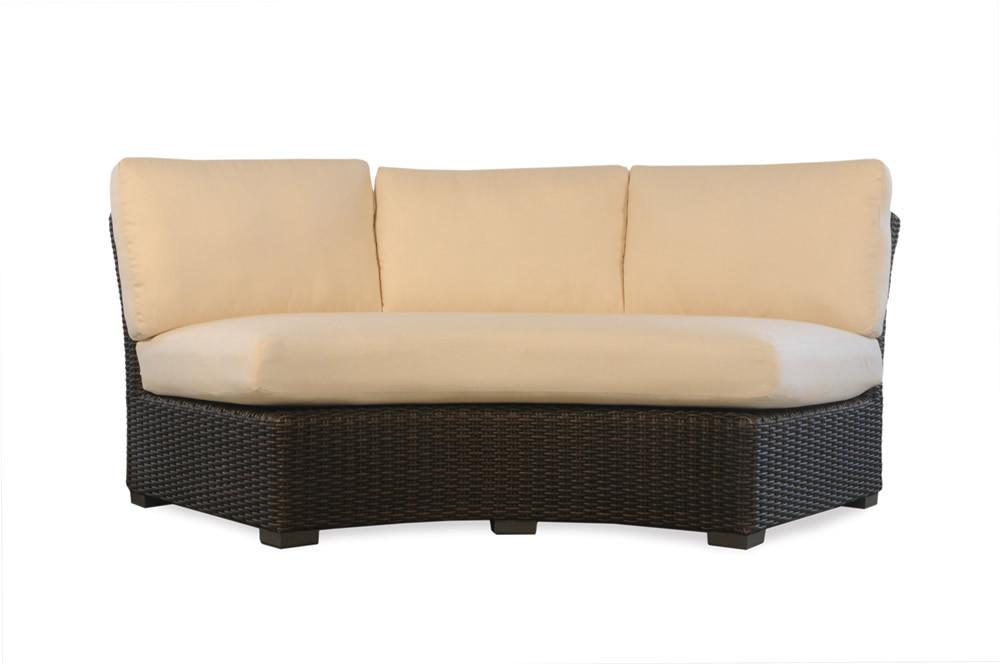 Lloyd Flanders Mesa Wicker Curved Sofa Wicker Sofas