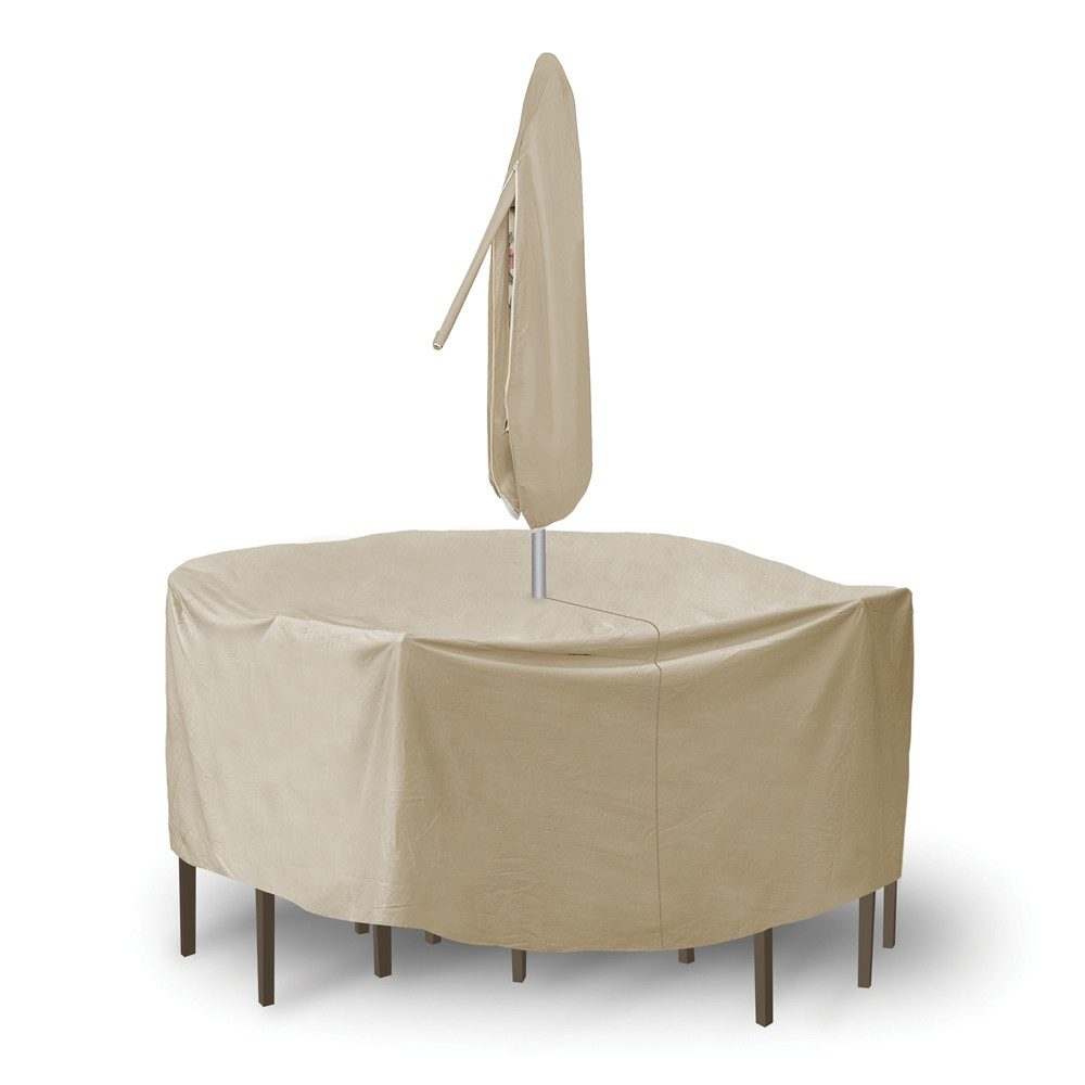 Pci round pub set outdoor furniture cover with umbrella for Pci outdoor furniture covers