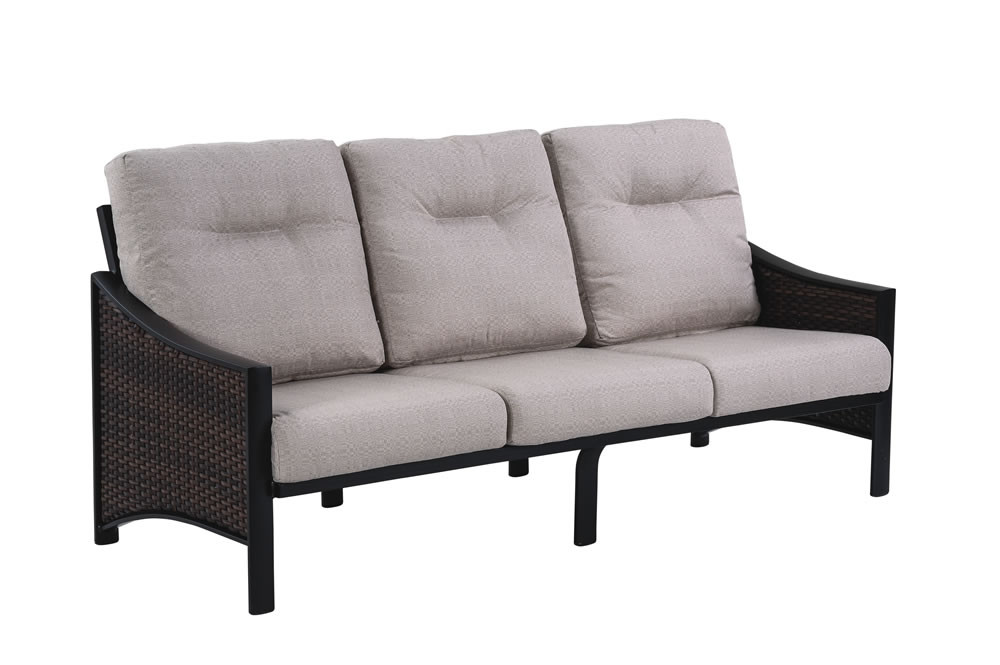 e289eceaa88 Tropitone Kenzo Wicker Sofa - Wicker Sofas - Wicker Seating - Wicker.com