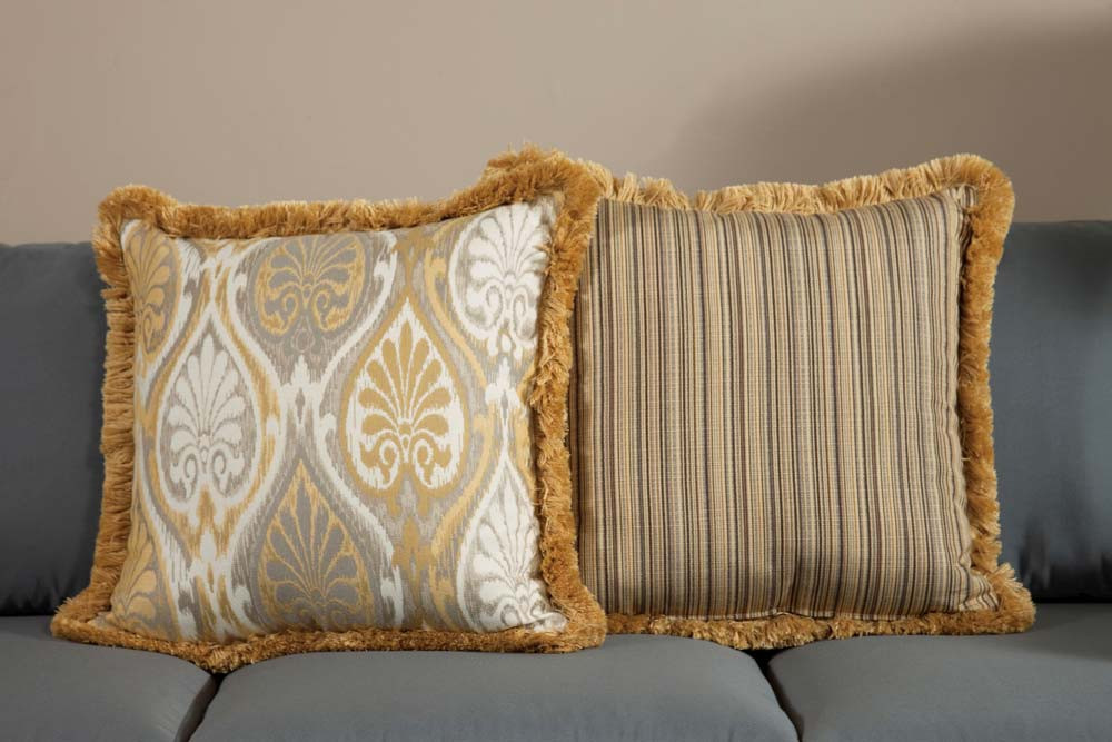 South Sea Rattan All Weather Aura Large Throw Pillow