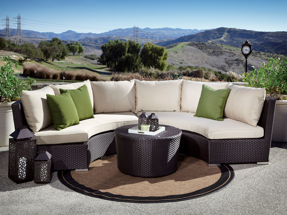 Curved Patio Sofa Orsay Outdoor Patio Furniture Curved