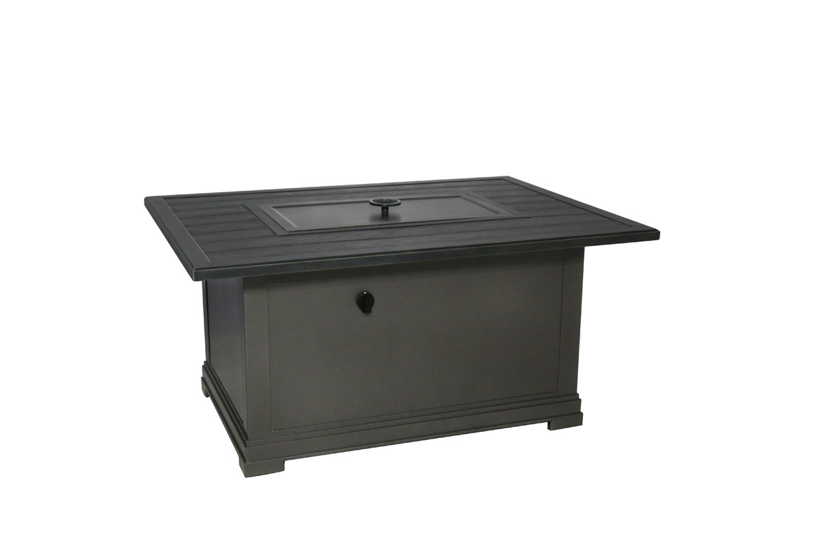Sunvilla Embossed Wood Grain Top Rectangular Fire Table